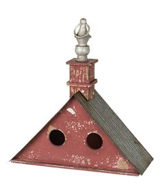 Take a look at this Red Triangle Birdhouse today!