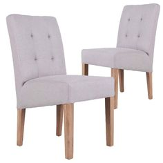 Beige Oxford Upholstered Dining Chairs Set Of 2 By Milan Direct Get It