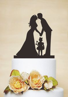 Wedding Cake Topper Silhouette de Couple par AcrylicDesignForYou