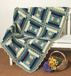 Ravelry: Colonial Log Cabin Afghan pattern by Lion Brand Yarn..Free