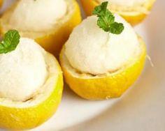 Sorbet citron brûle-graisse en coque d'agrume Croq'Kilos…