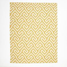 Key Wool Dhurrie - Horseradish | West Elm