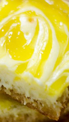Lemon Cheesecake Bars Recipe ~ A perfect meld of sweetness and tart lemon filling makes these Lemon Cheesecake Bars out of this world!
