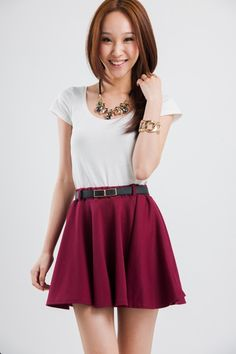 skater skirt outfit - Buscar con Google
