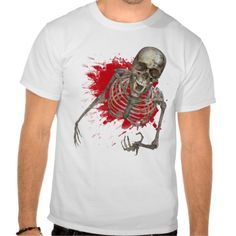 Skeleton Screaming Terror tee from #Ricaso