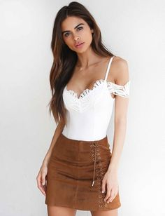 VIXEN LACE UP SKIRT