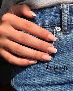 nails french tip - nails french tip ; nails french tip color ; nails french tip with design ; nails french tip glitter ; nails french tip ombre ; nails french tip coffin ; nails french tip acrylic ; nails french tip short Acrylic Nails Natural, French Tip Acrylic Nails, Cute Acrylic Nails, Acrylic Nail Designs, Cute Nails, Short Nails Acrylic, French Manicure Acrylic Nails, Acrylic Nails Yellow, Natural Color Nails