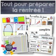All for September - Back To School School Organisation, Classroom Organization, Classroom Management, French Teacher, Teaching French, Primary School, Elementary Schools, Primary Education, School Life