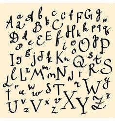 Graffiti Alphabet A Z Fonts Vampire Style Art