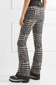 Moncler Grenoble - Houndstooth Twill Ski Pants - Black - IT44