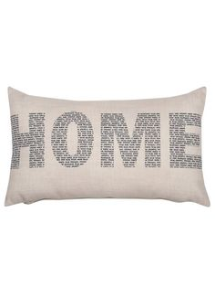 Home typography cushion