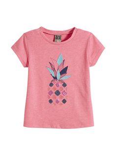 LE TEE-SHIRT CRAPAUD : Le tee-shirt qui apportera une touche de couleur et de fun à la tenue ! LE TEE-SHIRT CRAPAUD, col rond, mancherons, fermeture par pressions sur épaules, print avec sequins,