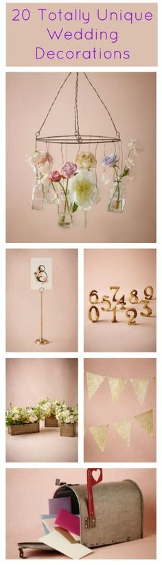 20 Unique Wedding Decorations