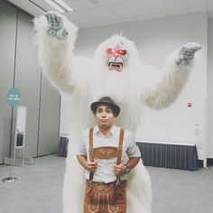 Pin for Later: 25 Wildly Creative Disneyland-Inspired Costumes — For Superfans ONLY Matterhorn Yeti