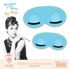 Breakfast at Tiffany's Mask digital file for photobooth fun!