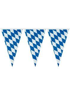 Guirlande fanions bavarois fête de la bière : Cette guirlande de couleur bleu et…