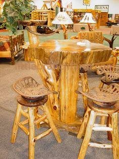 Rustic Bar Tables