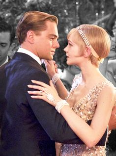 """""""I wish I had done everything on earth with you."""" Jay Gatsby and Daisy Buchanan played by Leonardo DiCaprio and Carey Mulligan dancing in Baz Luhrmann's film The Great Gatsby"""