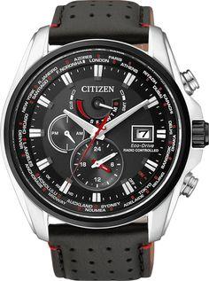 Citizen Reloj AT9036-08E Controlado por radio Radio Controlled Sport Black