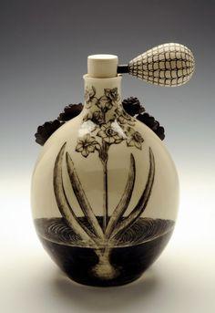 Ceramic perfume bottle by Myungjin Kim