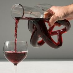 A few odd wine carafes that will surely be conversation pieces.