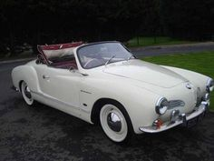 1960 VW Karmann Ghia Convertible. White against a White Wall tire! Oh Man! What's hot......This car!