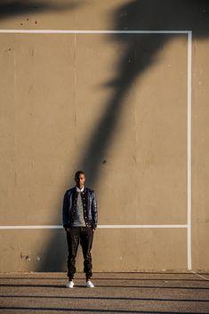 Along The Venice Boardwalk — The Design Kollective Brown Cardigan, Grey Sweater, Aaron Smith, Daniel Patrick, Short Sleeve Hoodie, James Perse, Blue Hoodie, Quilted Jacket, Hugo Boss
