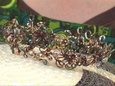 Jenny Mangun's art backround helps her create original jewelry pieces, including this beaded tiara. Learn how on HGTV.com.