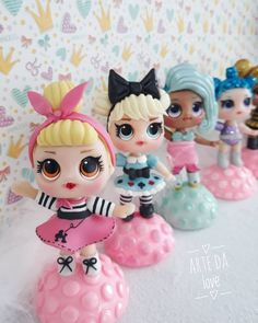 Translucent Porcelain Royalton China Co Key: 3549291187 Polymer Clay Projects, Clay Crafts, Diy And Crafts, Fondant Figures, Clay Figures, Lol Dolls, Cute Dolls, Cake Topper Tutorial, Cake Toppers