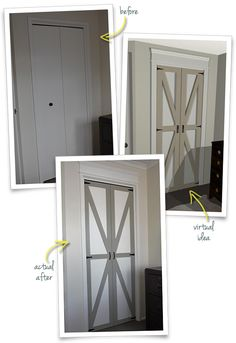 Converting Bi-Folds to Barn Doors (Before & After)   *