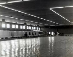 I learned the fine art of indoor roller skating on an old wooden floor in our roller rink just like this.....Levittown Roller Rink