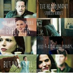 """""""Bold and audacious perhaps but not evil"""" Outlaw Queen... gah. My heart - it breaks!"""