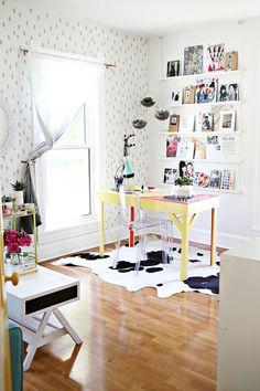 Elsie's Office www.abeautifulmess.com