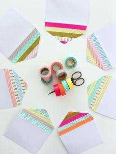 Envelope Dressing With Washi Tape