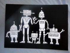 """robot room perfection, thinking maybe using the verse """"I am fearfully and wonderfully made"""" psalms 3rd Grade Art Lesson, 30 Day Art Challenge, Robots Drawing, Animal Art Projects, Art Rules, Drawing Projects, Arts Ed, Robot Art, Elementary Art"""