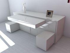 platzsparende möbel Modernes Sideboard pedro machado weiß