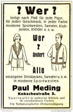 Original-Werbung/ Anzeige 1926 - STRICK-MODE PAUL MEDING KOKSCHESTRASSE 5…