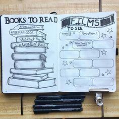 """29 Likes, 2 Comments - Eowyn Elleveve (@ellevevedraws) on Instagram: """"What books and movies are on your list for 2018? #bulletjournal #bujo #planner #plannersetup…"""""""