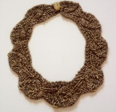 (6) Name: 'Knitting : Leaves Necklace