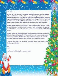 Letter from Santa New 2013 1