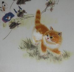 Chinese art, hand made silk embroidery by handmadeembroidery51
