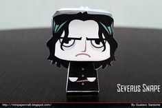 Snape and Lily Paper Crafts by Gus Santome    minipapercraft.blogspot.com