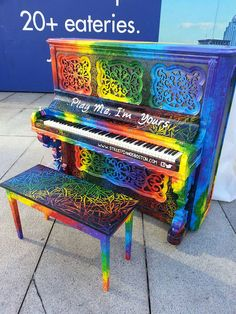 Rainbow Piano  Artists Beautify Outdoor Pianos Around the World to Bring Music to the Streets - My Modern Met