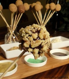 Chocolate Cake Pops served Fondue style