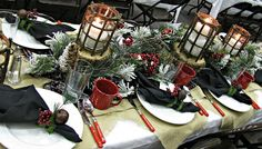 Our Creative Life: Rustic Winter Wonderland Tablescape