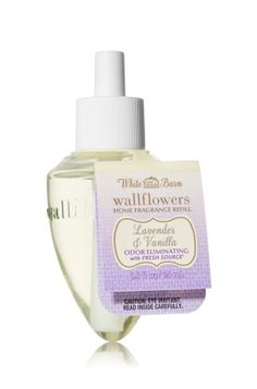 Lavender & Vanilla - Wallflowers Fragrance Refill - White Barn Home - Bath & Body Works - Combine with Wallflowers fragrance plug, sold separately, to scent any room with 24/7 noticeable freshness for weeks and weeks.
