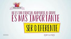 @Dolors Mariscal Reig Hernández   No es tan esencial adaptarse al grupo. Es más importante ser diferente #escuelacreativa @ecatolicas @tanja * montalva