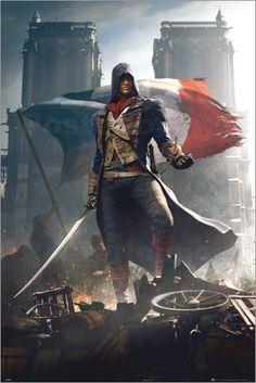 "Poster von ""Assassins Creed Unity - Arno"""