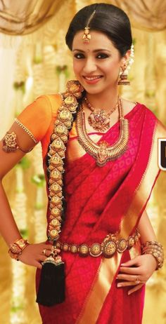 Nayanthara, Trisha and Bhavana sizzle in Saree Ads.who is the best.Vote now - Page 59 Indian Dresses, Indian Outfits, Trisha Saree, Indian Jewellery Design, Bridal Jewellery, Jewellery Designs, Latest Jewellery, Temple Jewellery, Indian Jewelry