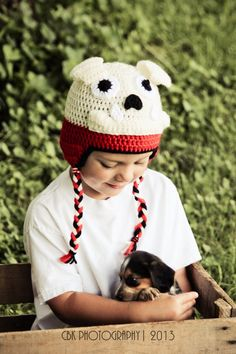 1d199d4508e Crochet Georgia Bulldog Hat With Earflaps